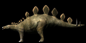 3d stegosaurus rig