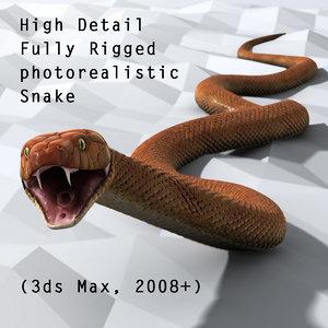 3d generic snake animation model