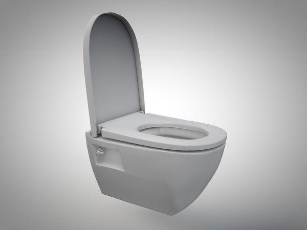 c4d toilet opened seat