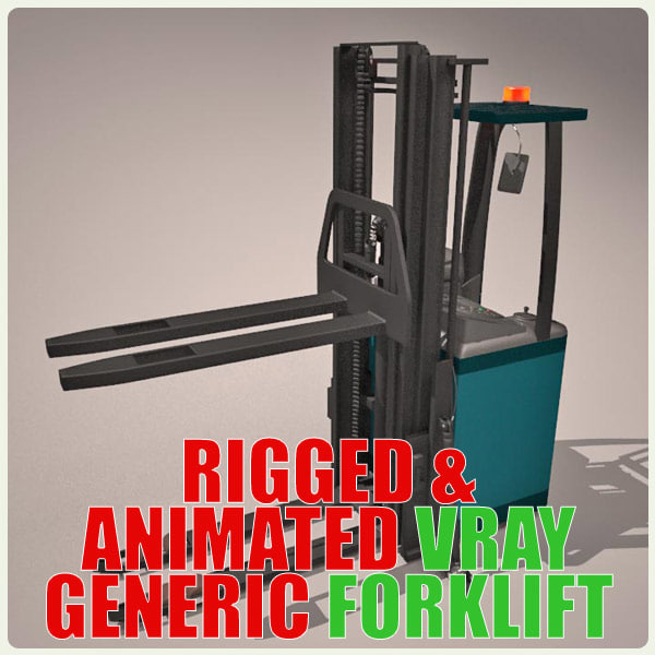 animation generic forklift max