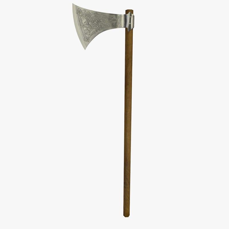 viking axe c4d