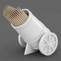 Cannon Toothpick Holder 02
