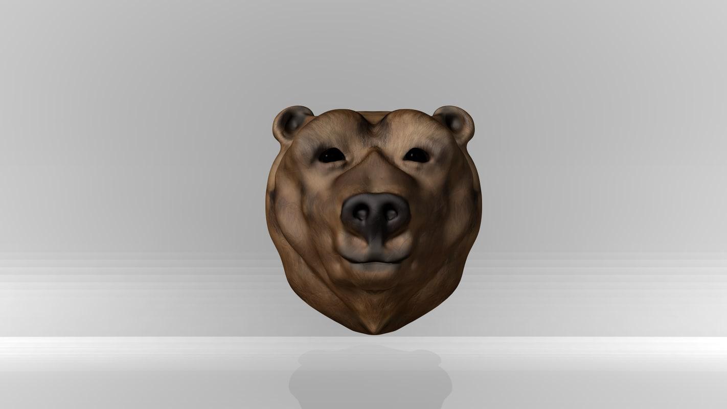 maya bear head
