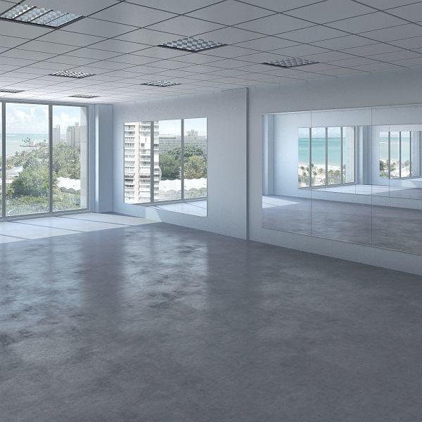 model gym interior scene