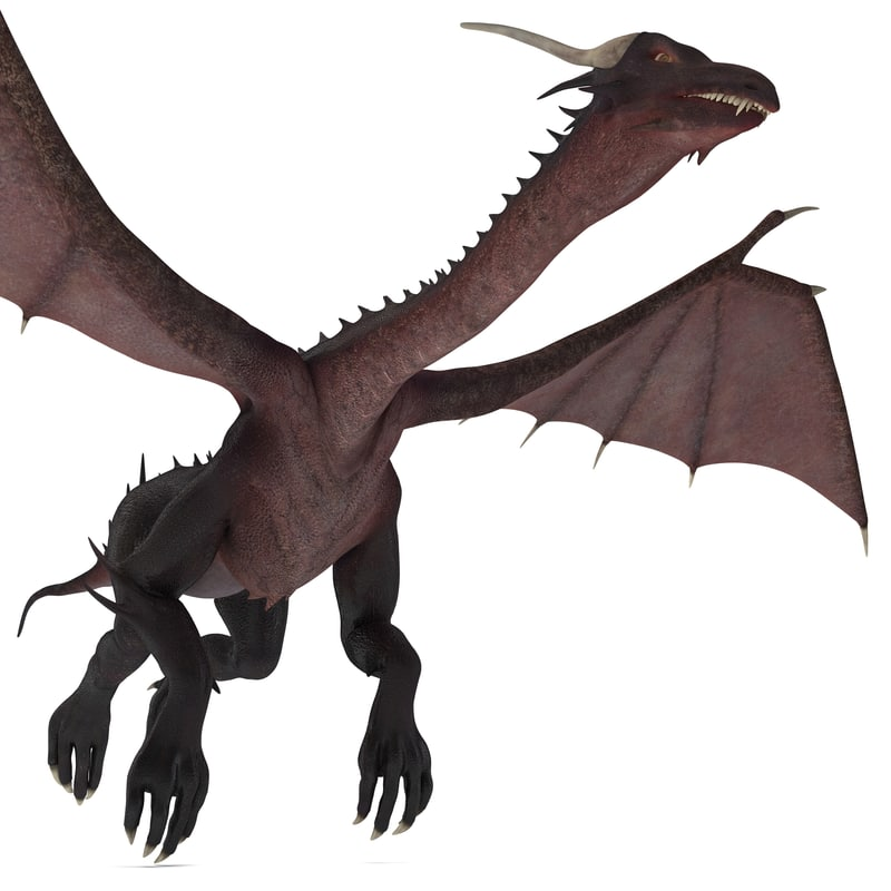dragon 3 pose 1 3d model