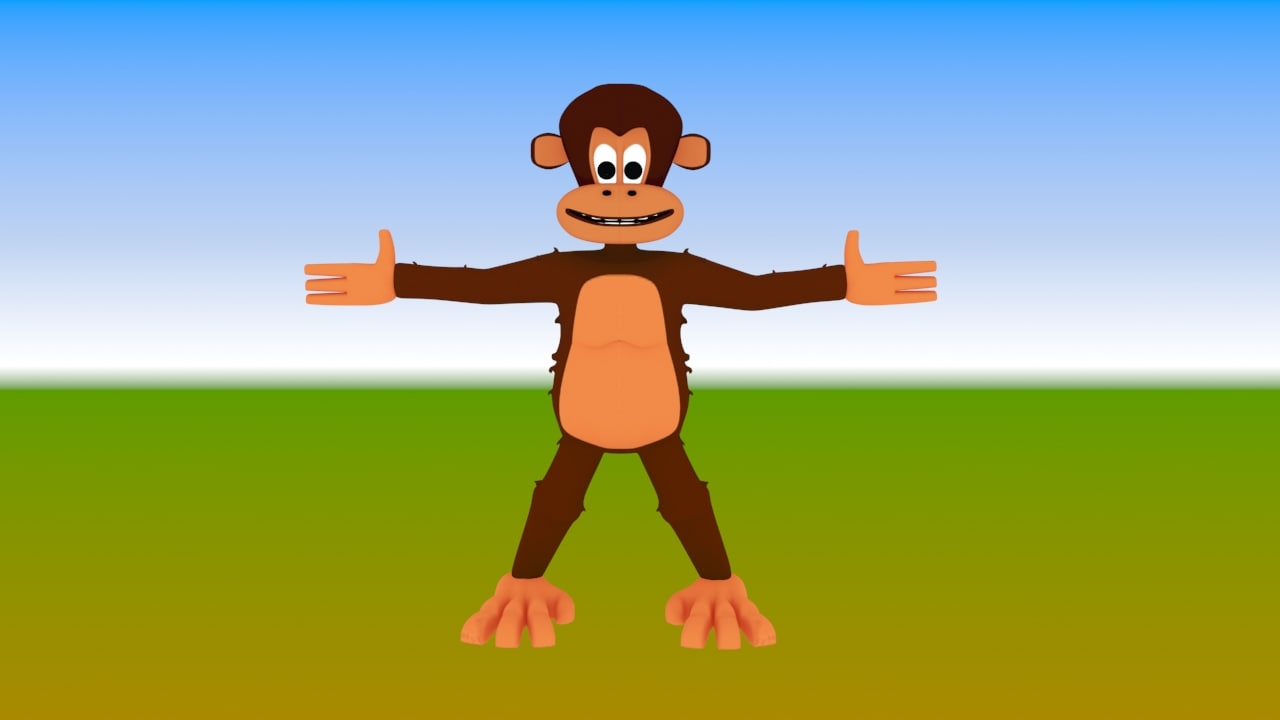 3ds monkey character