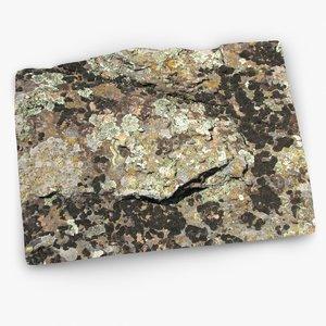 mossy rock 1 3d model