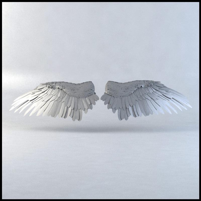 bird wings 3d max
