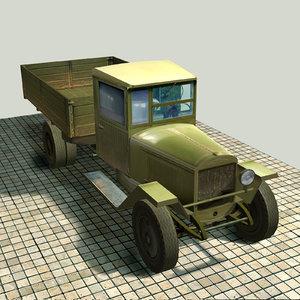 free truck body zis-5v zis 3d model