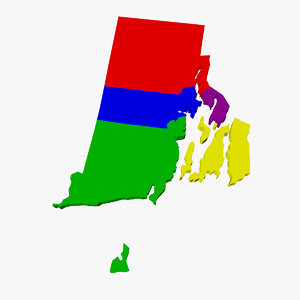 3d model of counties rhode island