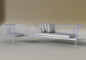 3d clubland armchair sofa model