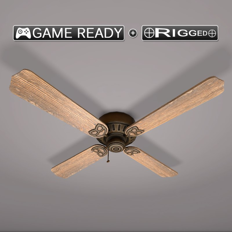 3d model real-time ceiling fan