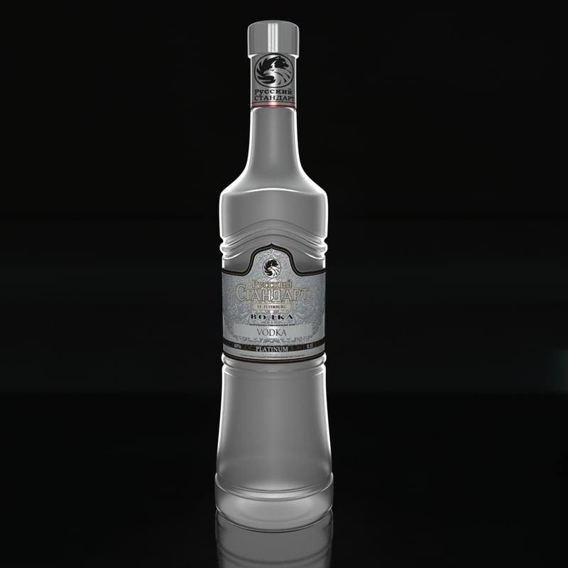 russian standart vodka 3d max
