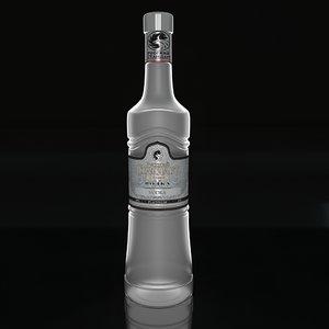 russian standart vodka 3d max