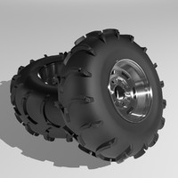 3ds max tires rims quad buggy
