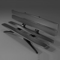 3d futuristic bench model
