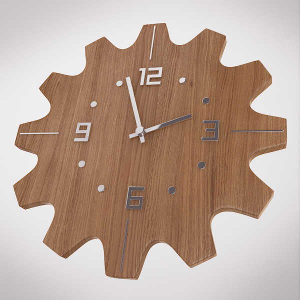 wooden wall clock max