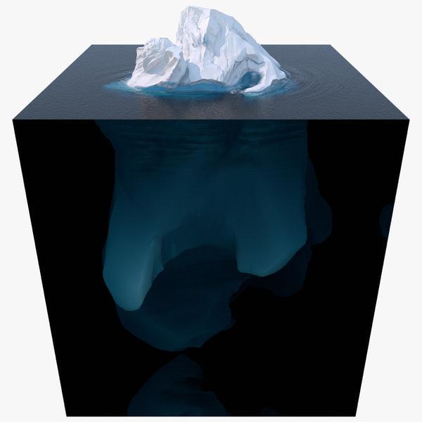 3d iceberg berg ice