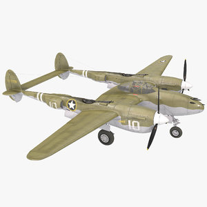 3d lockheed p-38 2 model