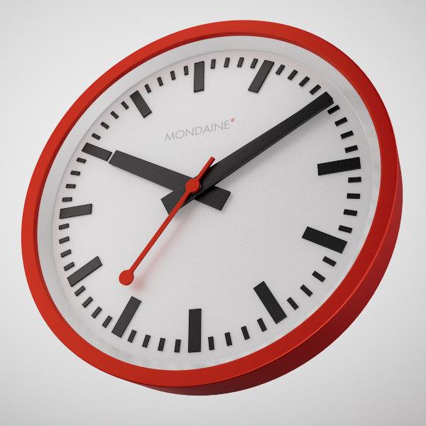 3d max mondaine clock