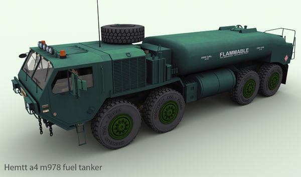 hemtt a4 m978 fuel 3d model