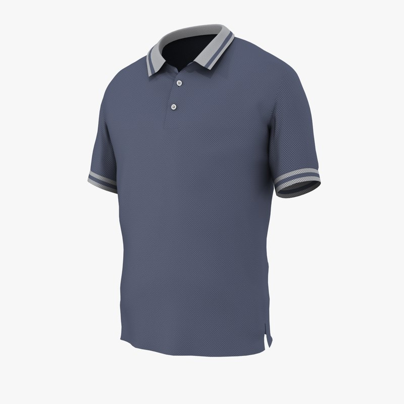 fasion polo shirt obj