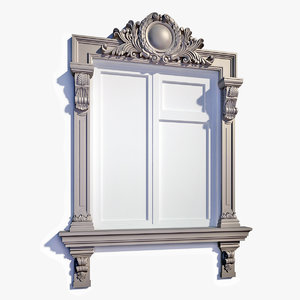 3d model window frame