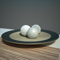 3d decorative plate balls model