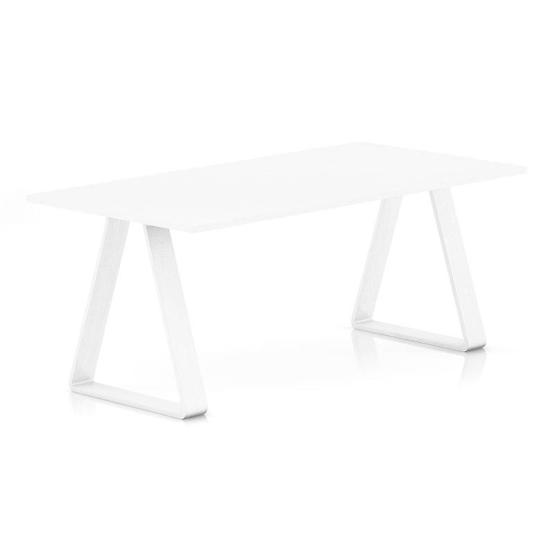 3d white table model