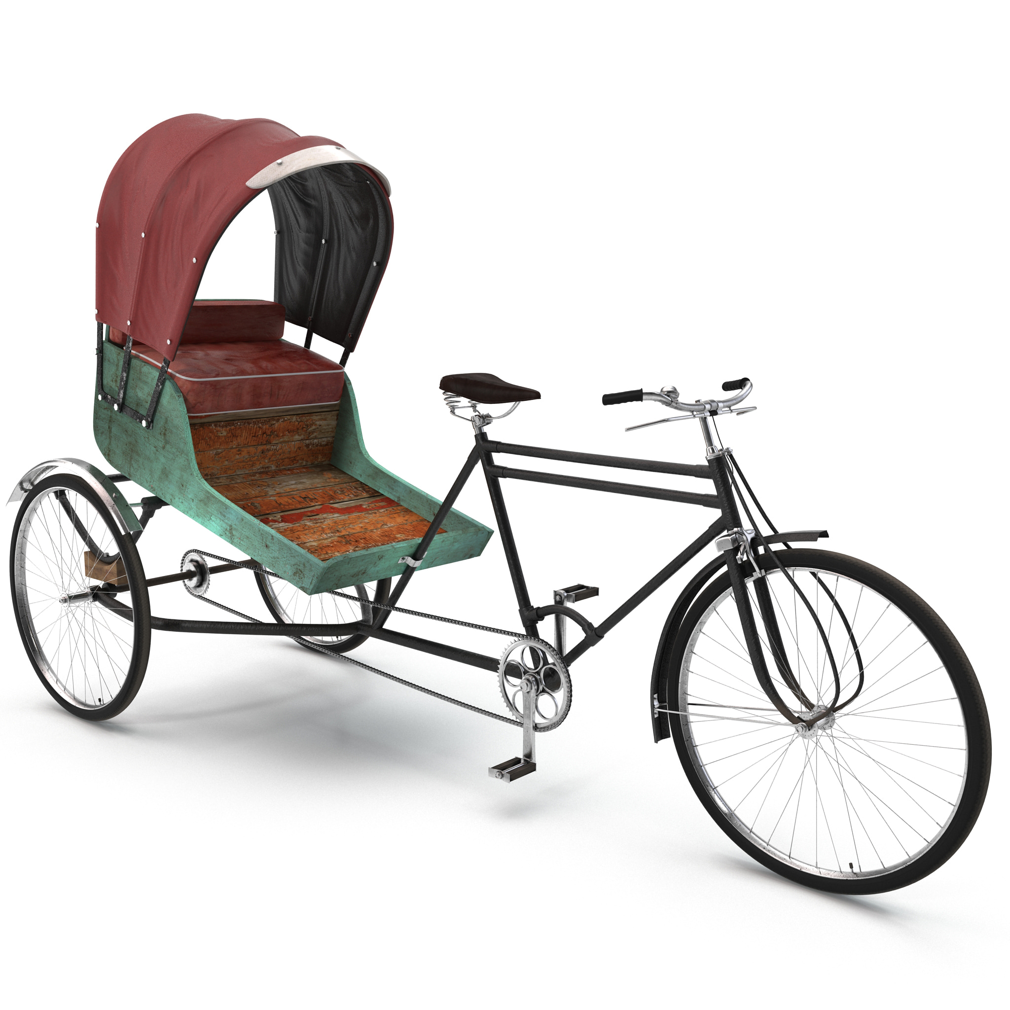 3ds bike rickshaw 2