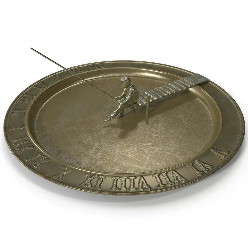 3d fisherboy sundial bronze