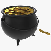 3ds max pot gold