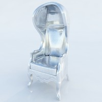 max 4117 silver balloon chair