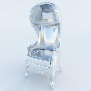 max 4117 silver balloon chair