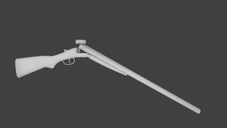 3d double barrel shotgun video
