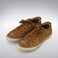 Chucks Shoe Brown Suede - 3D Scanned