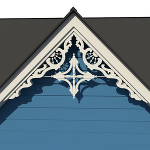 decorative gable 3d model