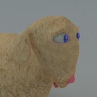 obj cartoon sheep