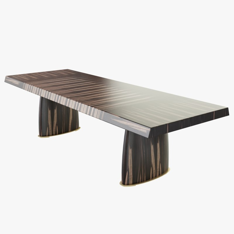 promemoria goffredo dining table 3d model