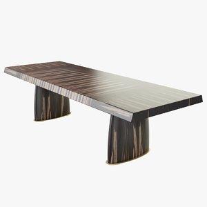 promemoria goffredo dining table 3d model