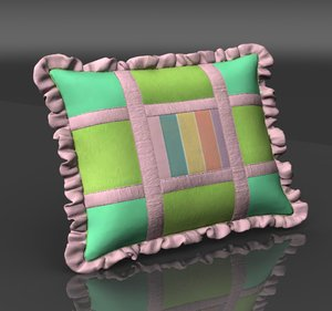 3d obj country pillows