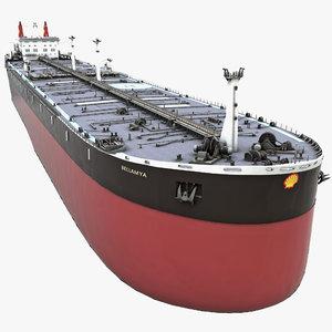 3d model shell tanker bellamya