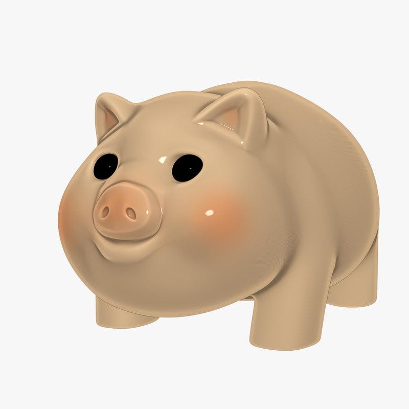 3d model piggy bank
