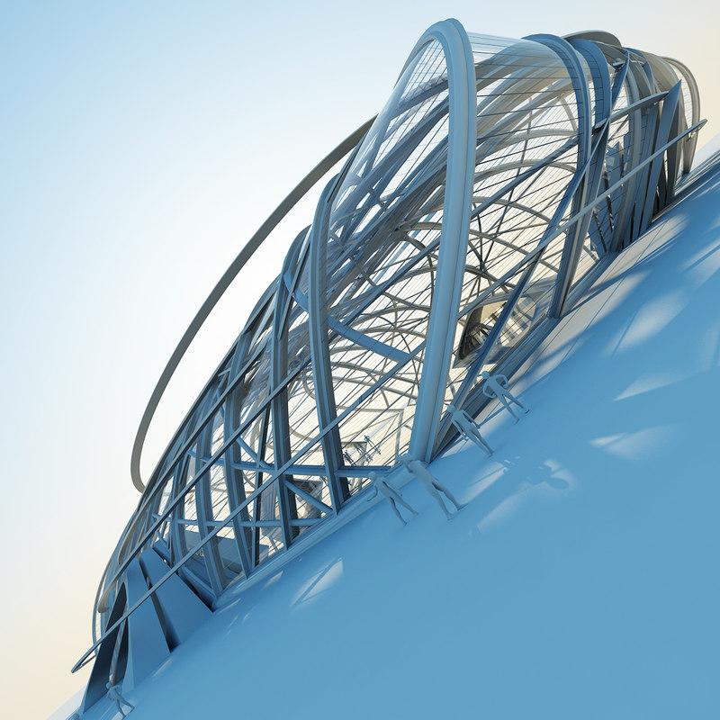 3d architectural structure