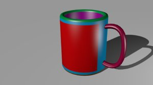 mug cup 3d 3ds