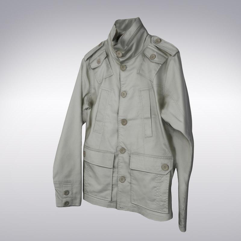3ds max men s trench coat