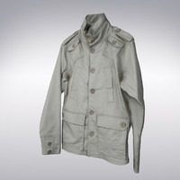 3ds max men s trench coat