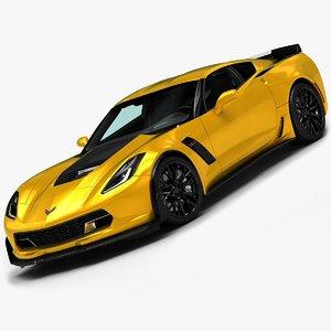 2015 corvette z06 3d model
