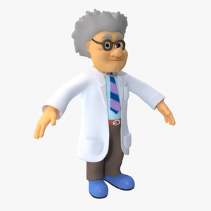 3d model cartoon scientist