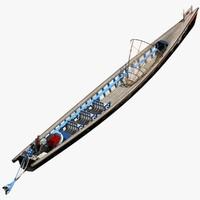 3d inle lake motor canoe